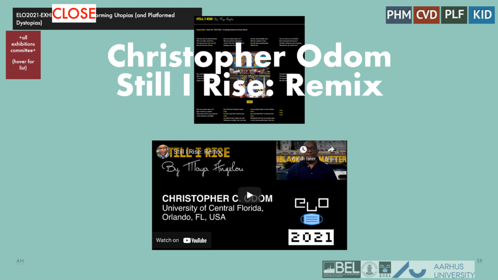 Still I Rise: Remix - JavaScript Interactive Poetry